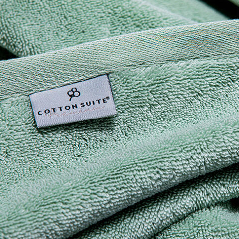 Cotton Suite handdoeken green